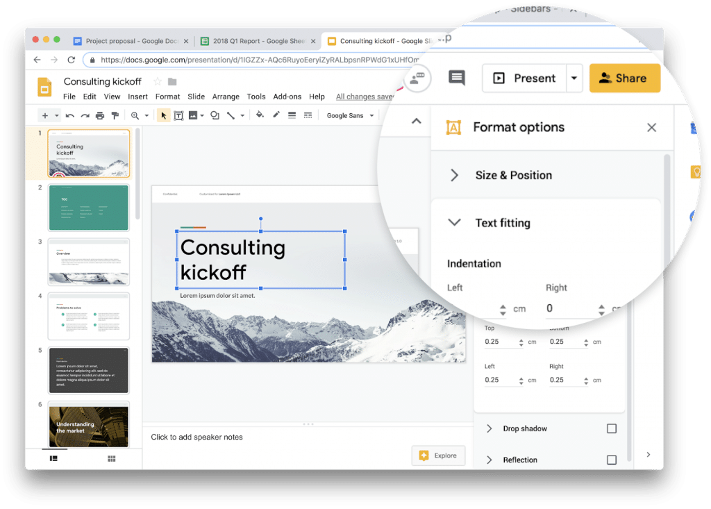 Material Design version 2 de Google Slides