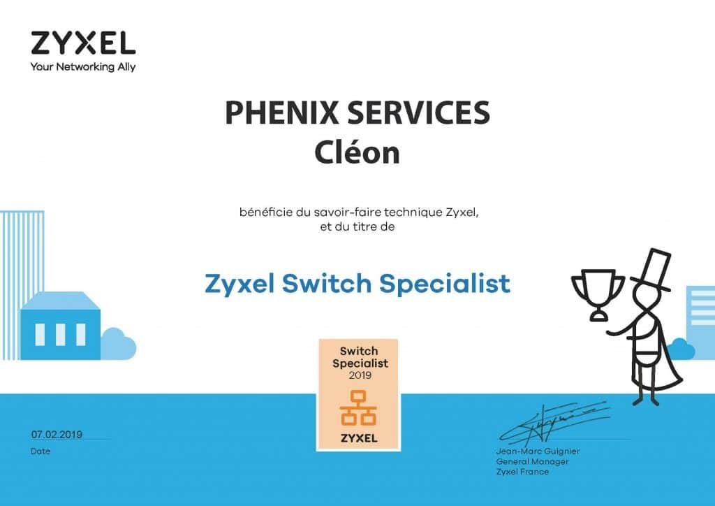 Phenix Services spécialiste certifié routeur réseau Zyxel